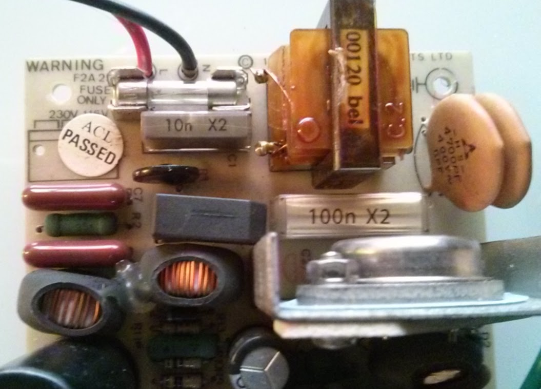 BBC power supply with new X2 capacitors