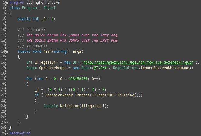 Envy Code R font, Dark style