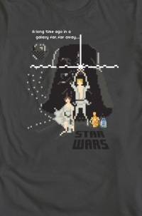 Star Wars pixel shirt from We Love Fine