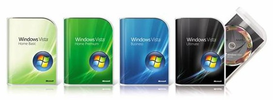 Windows Vista packaging